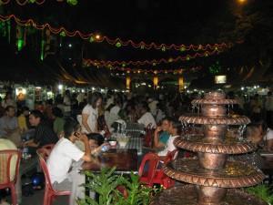 Suasana out door buka puasa bersama ramadhan fair (dok/foto.inka)